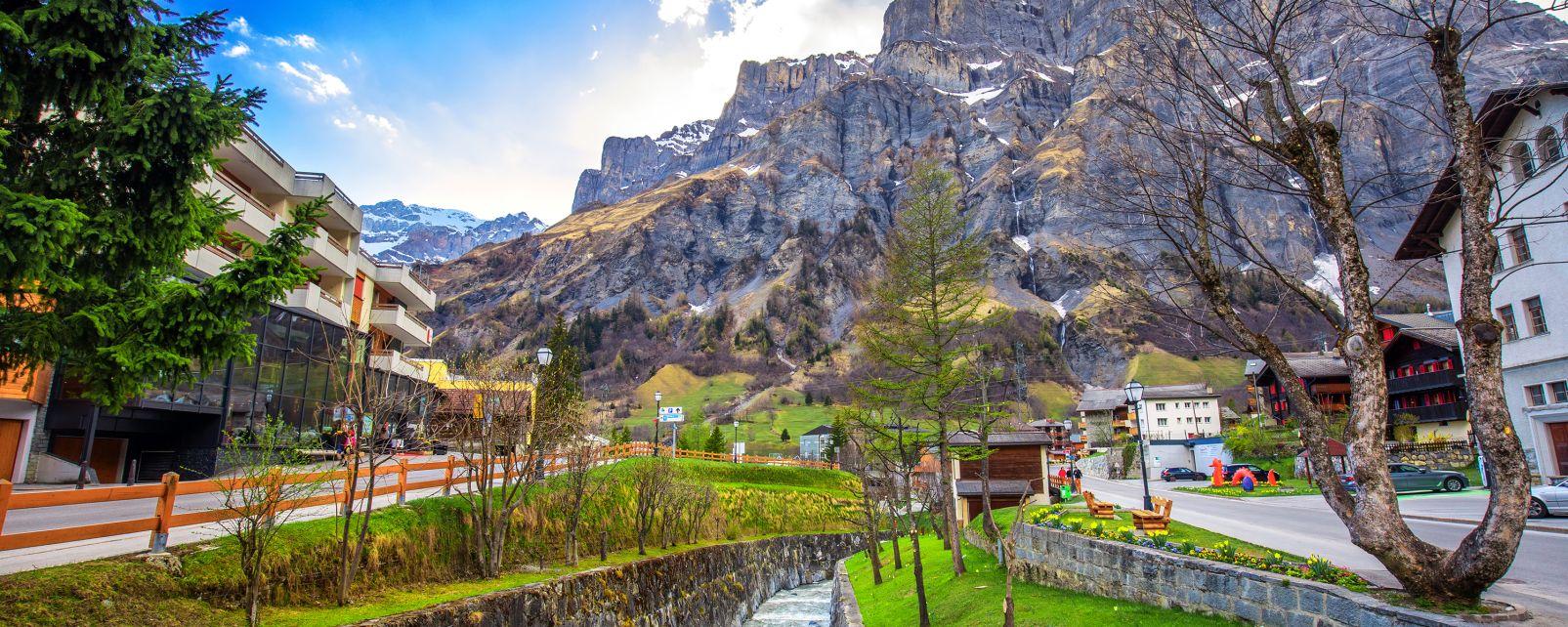 Les stations de ski, leukerbad, suisse, europe, loèche-les-bains