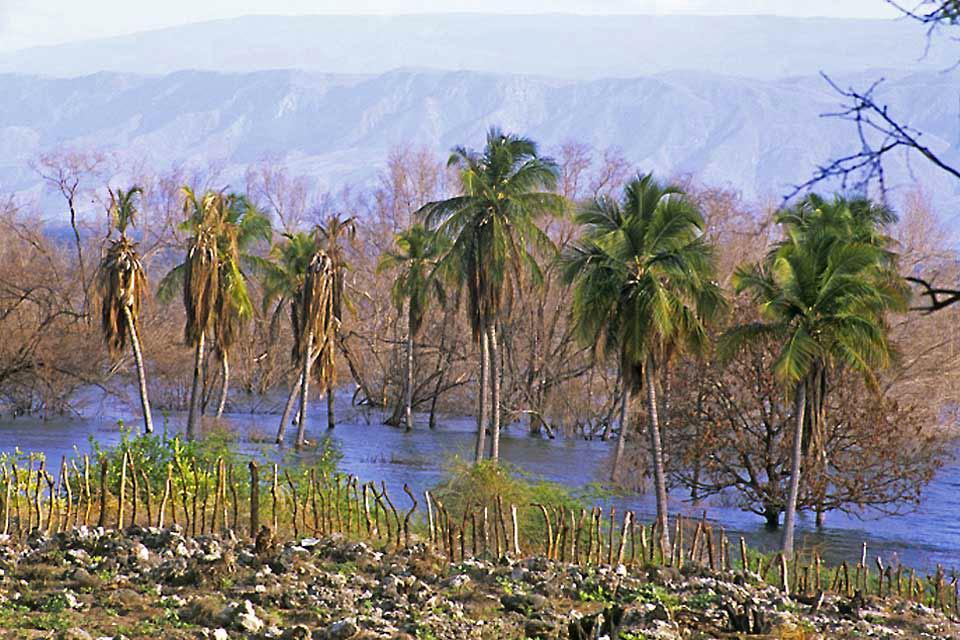 Le lac salé d'Enriquillo , Dominican Republic