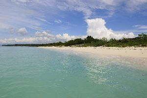 La plage de Bahia de las Aguilas , La playa de Bahía de las Águilas , República Dominicana