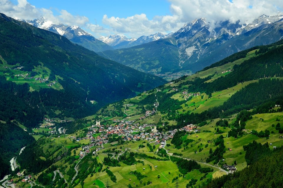 Les paysages, autriche, tyrol, kaunergrat, nature, chateau, bideneck, montagne, europe