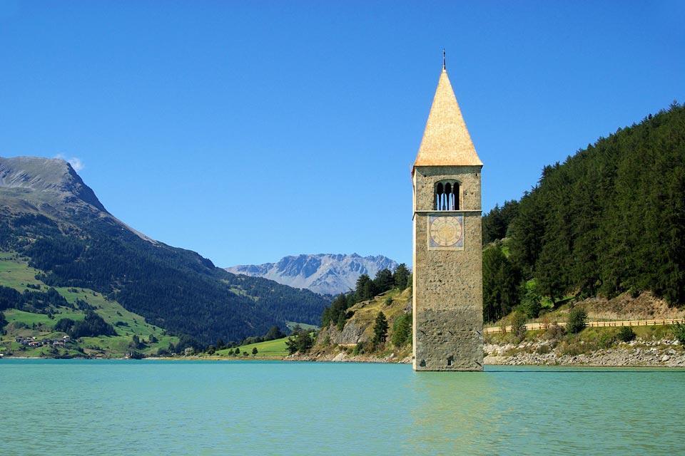 Le Tyrol , Lago di montagna , Austria