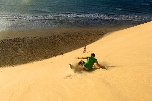La plage de Jericoacoara , Brésil