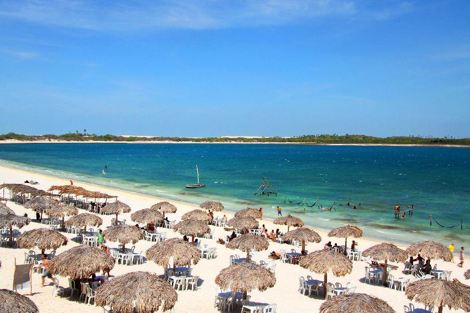 La plage de Jericoacoara , L'une des plus belles plages du monde , Brésil