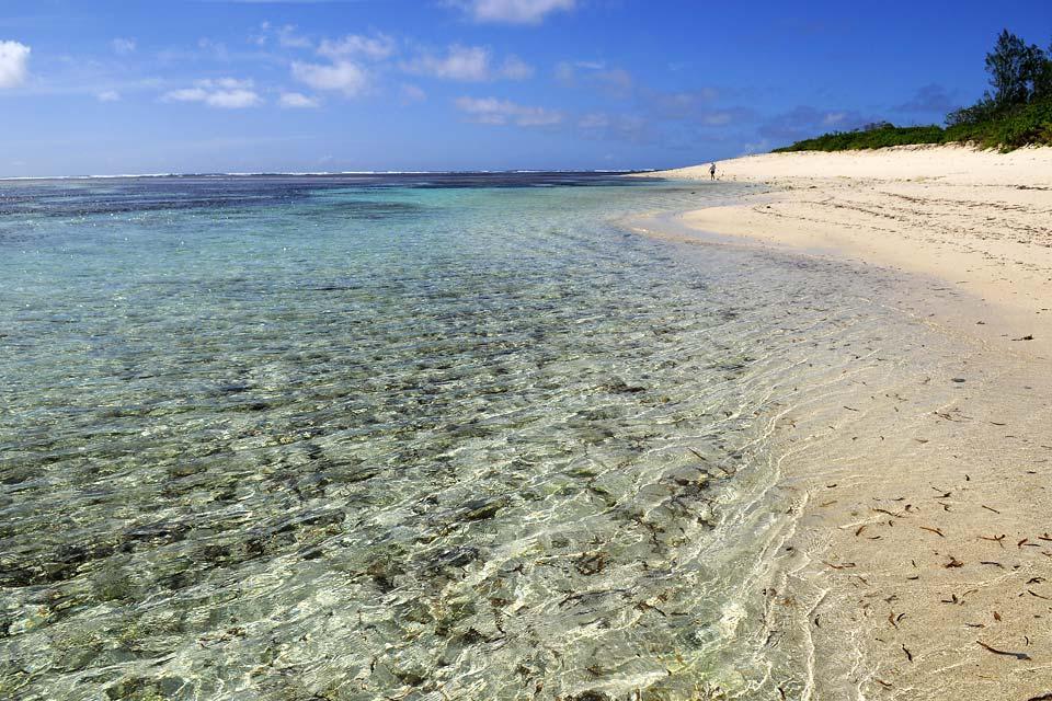 Desroches Island , 14 km di spiaggia vergine , Seychelles
