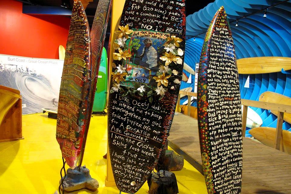 Le musée du surf à Torquay , Australie