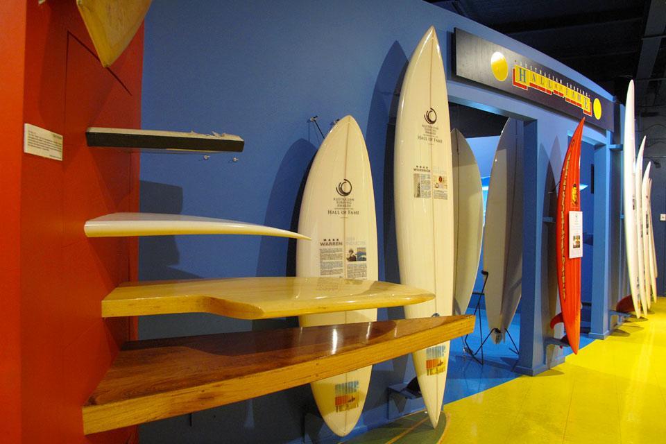 Le musée du surf à Torquay , Les planches de surf , Australie