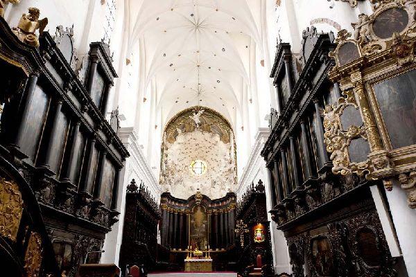 La cathédrale d'Oliwa à Gdansk , Polonia