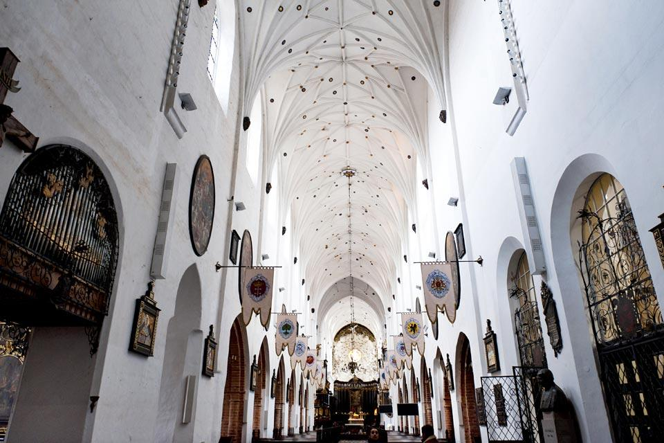 La cathédrale d'Oliwa à Gdansk , Polen