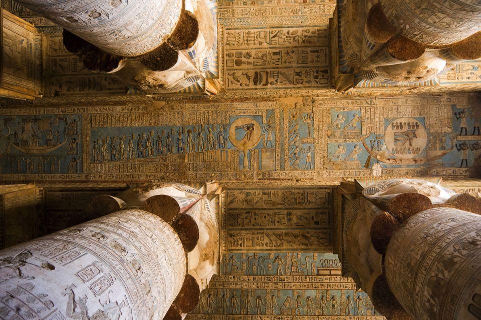 El techo de una de las salas del templo, Dendérah et le grand temple d'Hathor, Los parajes, Egipto
