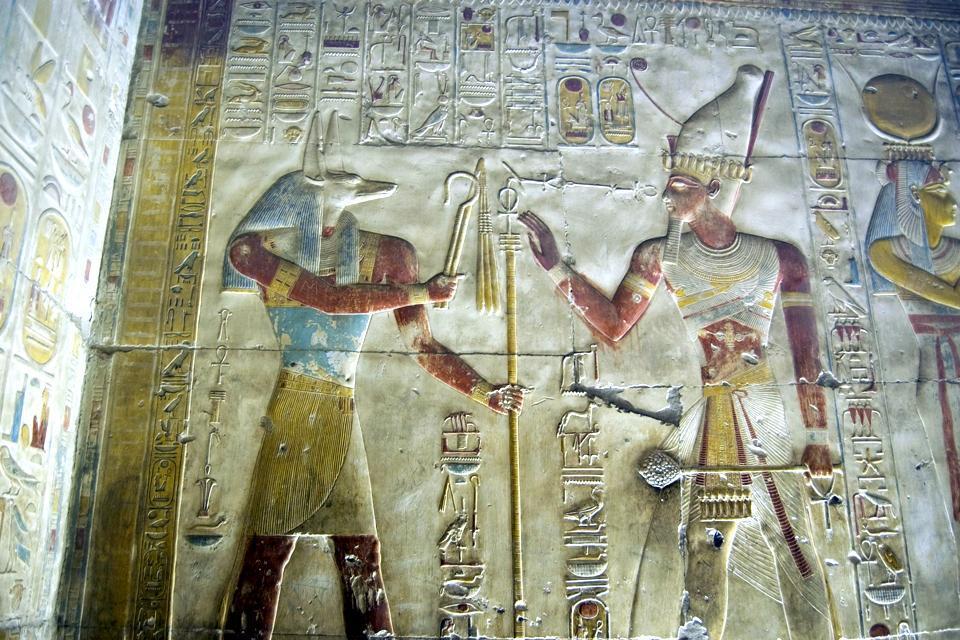Le temple d'Abydos , Egypte