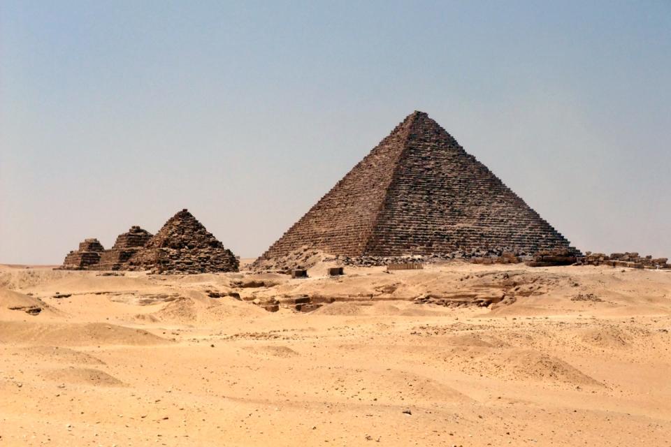 Les pyramides de Gizeh , Le complexe funéraire de Gizeh , Egypte