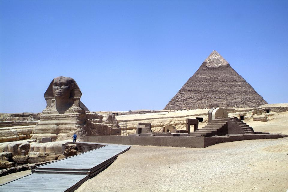 Les pyramides de Gizeh , Egypte