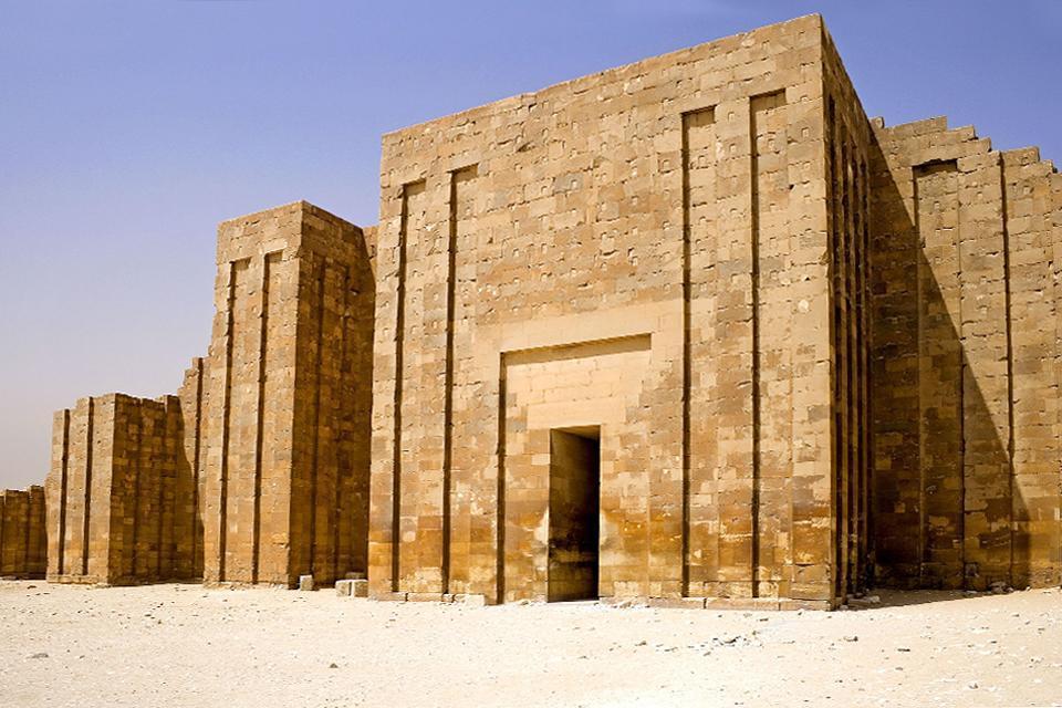 La nécropole de Saqqarah , Egypte
