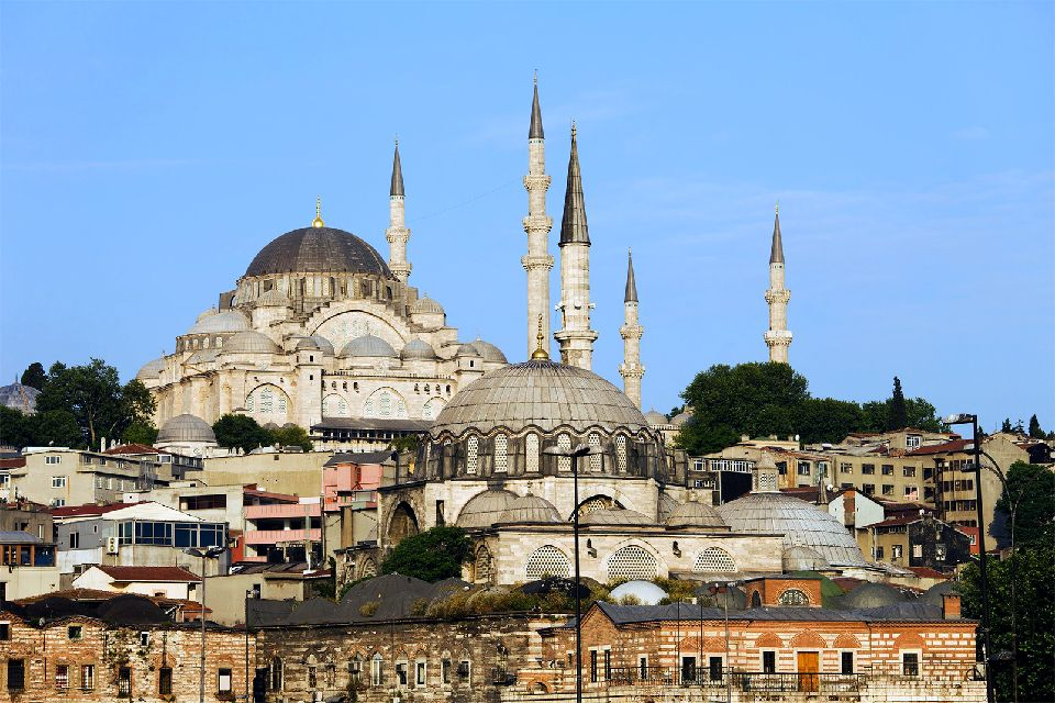 The Süleymaniye Mosque , The largest mosque in the city , Turkey