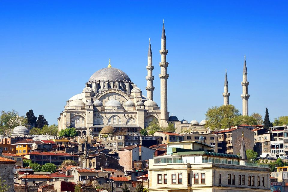 The Süleymaniye Mosque , The most imposing Ottoman monument , Turkey