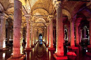 La citerne basilique byzantine , Die Cisterna Basilika, Istanbul , Türkei
