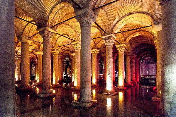 La citerna de la basilica bizantina , Un monumento espectacular , Turquía