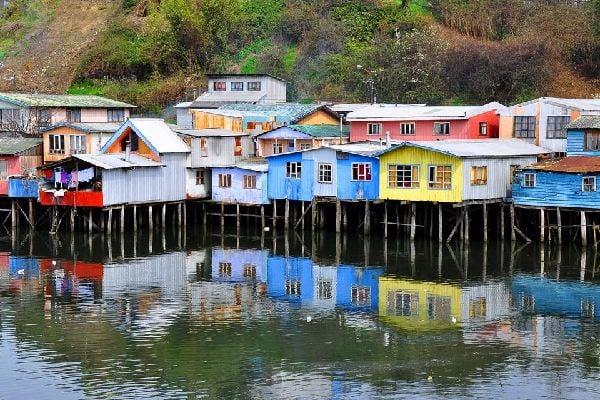 The island of Chiloé , Chile