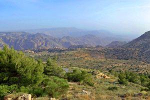 , La riserva naturale di Dana, I paesaggi, Giordania