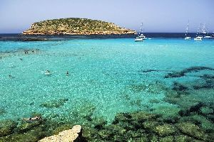Les calas d'Ibiza, Les côtes, Cala Comte, Baléares