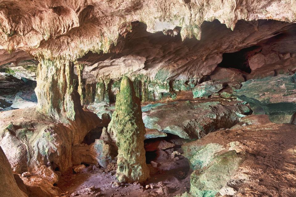 Les cavernes de Middle Caicos , Turks et Caicos