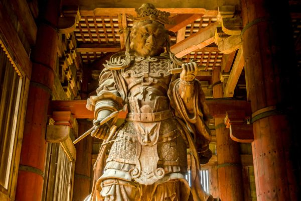 NARA- Todaiji , Un guardián Nio , Japón