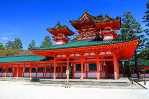 Rokuon Ji, Kyoto , The Heian Sanctuary in Kyoto , Japan