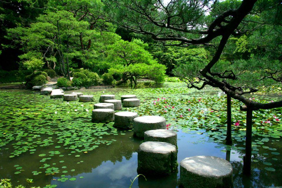 KYOTO- Rokuon Ji , El jardín Naka Shin'en , Japón