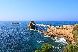 Le rocher de la Vierge de Biarritz , France