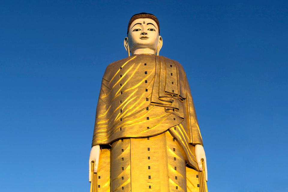 Le plus grand bouddha du monde , The biggest statue in the world , Myanmar