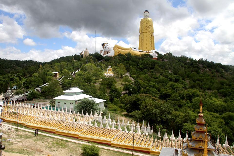 Le grand bouddha de Taung Khatakan , Setkyar Laykyun , Myanmar