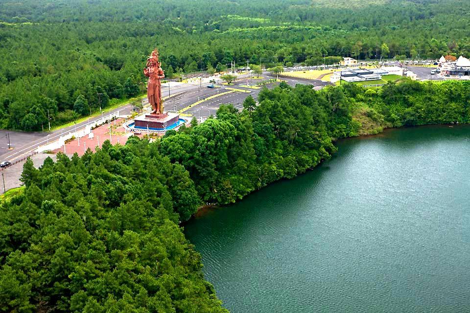 Grand Bassin , The statue of Shiva , Mauritius