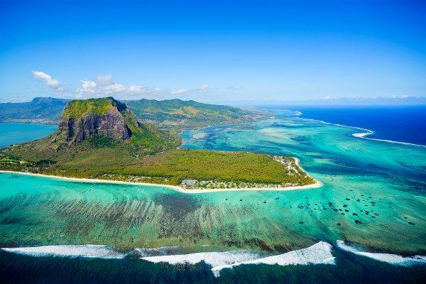 La côte sud , Isla Mauricio