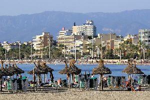 La baie de Palma de Majorque , Espagne