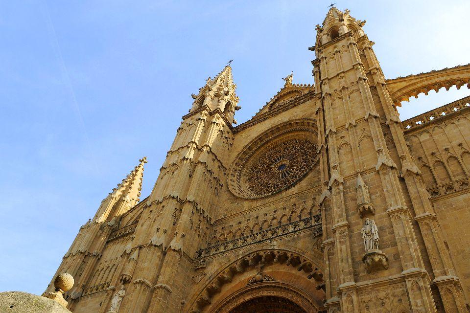 La cathédrale de Palma , Rosace de la cathédrale , Espagne