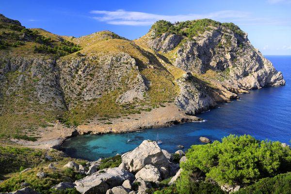 Majorque , le cap de Formentor , La cala Figuera au cap Formentor , Espagne