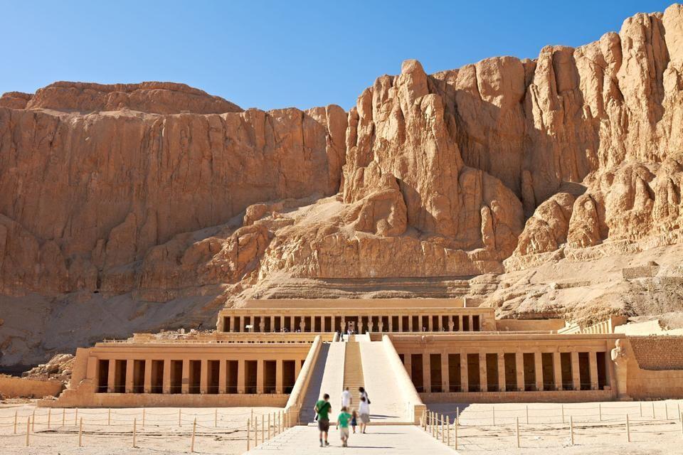 les rocades du temple, Le temple d'Hatchepsout à Deir el-Bahari, Les sites, Egypte