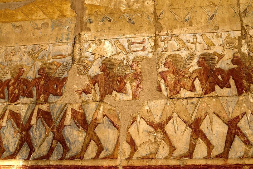 Le temple d'Hatchepsout à Deir el-Bahari , Egypte