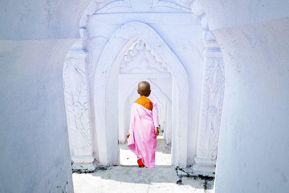 Mingun , La pagode blanche Mya Thein Dan , Birmanie