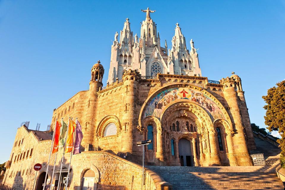 L'église Tibidabo , Spanien