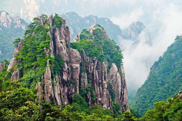 Huangshan , La Montagne Jaune , Les bonsaïs de la Montagne Jaune , Chine