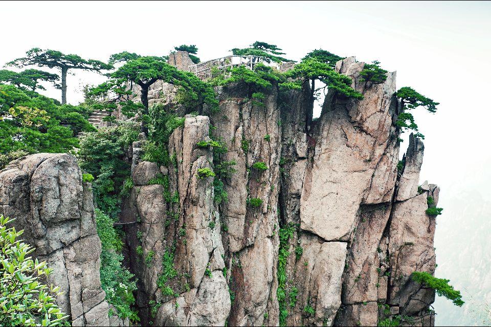 Huangshan , La Montagne Jaune , La Montagne jaune, détail , Chine