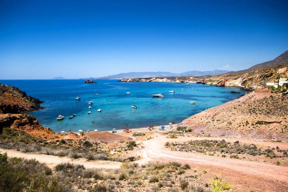Les paysages, costa calida, côte, espagne, murcie, europe, méditerranée, mer, Bolnuevo, Mazarron, plage