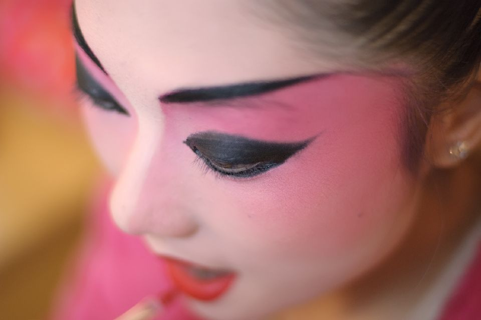 Le théâtre , Le maquillage chinois , Chine