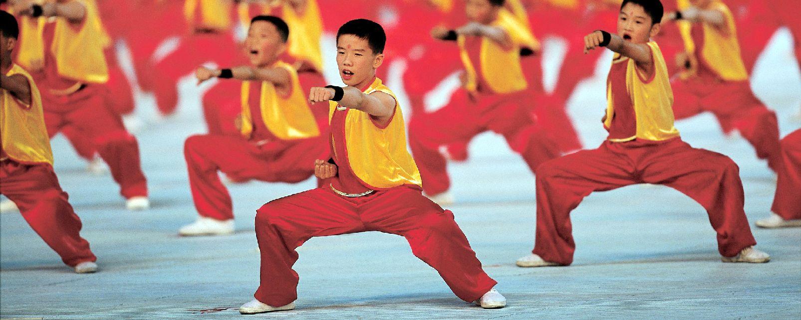 Les arts martiaux , Chine