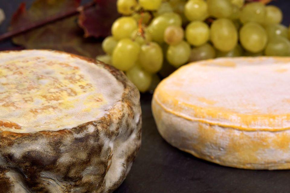 Les Fromages de Savoie , Tome de Savoie (à g.) et reblochon (à dr.) , France