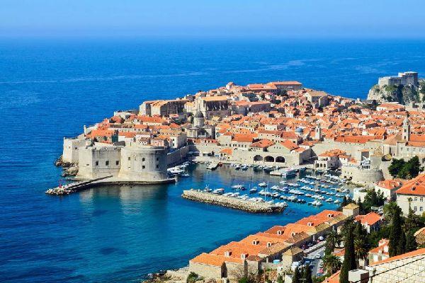 La péninsule de Lapad , Kroatien