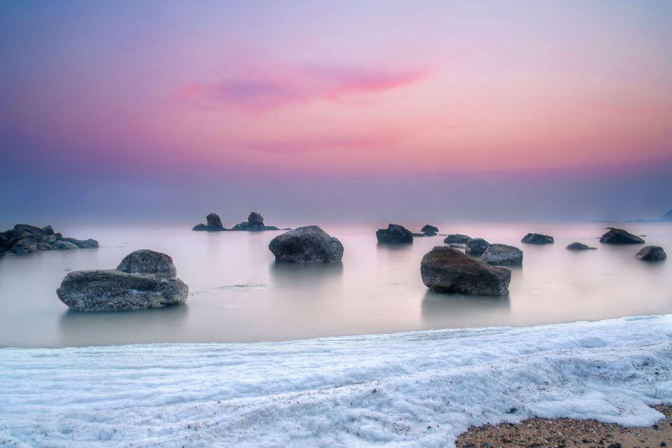 La plage de Beidaihe , Chine