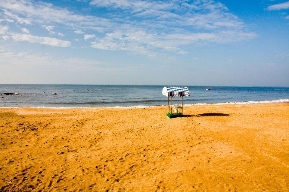 Der Strand von Beidaihe , China