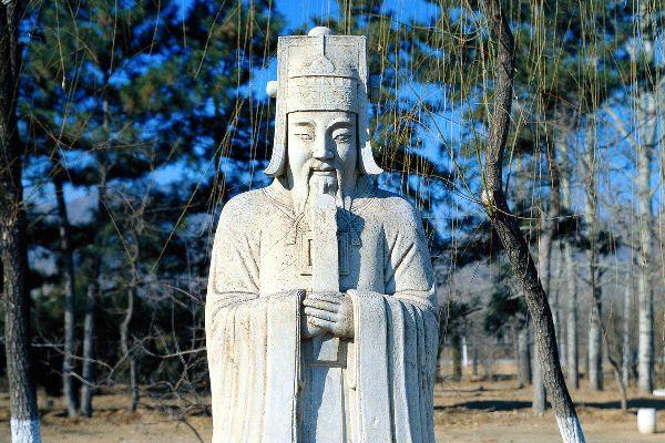 Les tombeaux des Ming (Shisanling) , Statue d'un empereur Ming , Chine